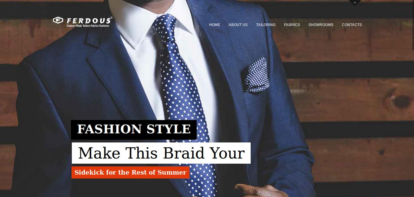 Ferdous Tailor has launched their new website.